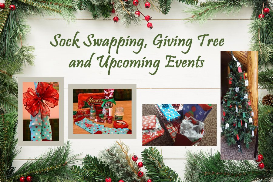 Sock Swapping, Giving Tree & Upcoming Events