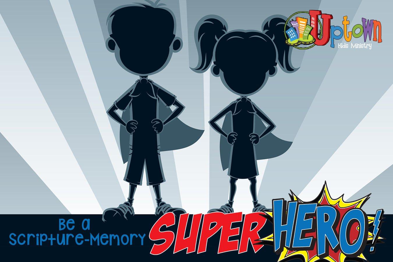 Be a Scripture-Memory Super Hero!