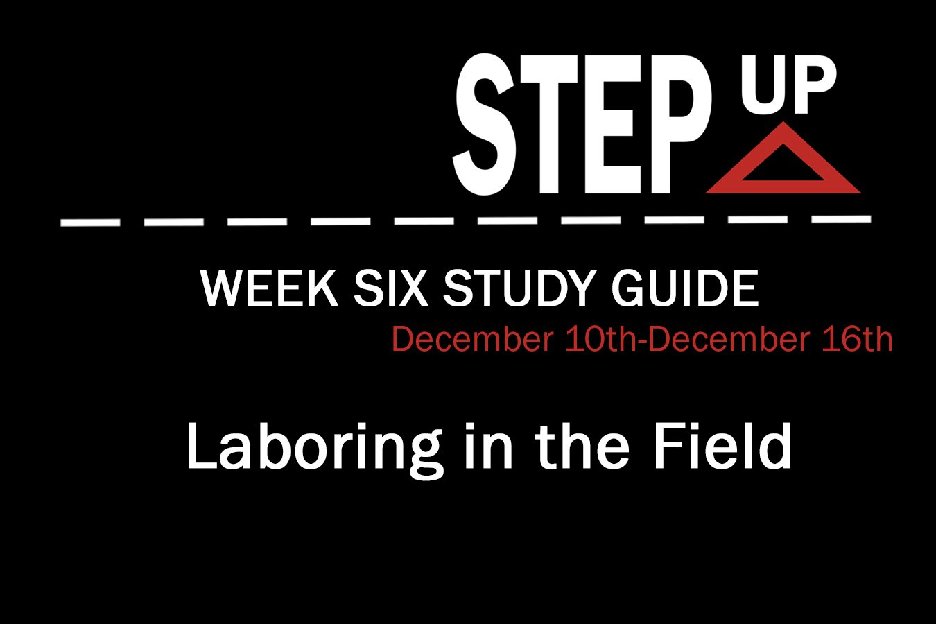 Step Up: Week Six Study Guide
