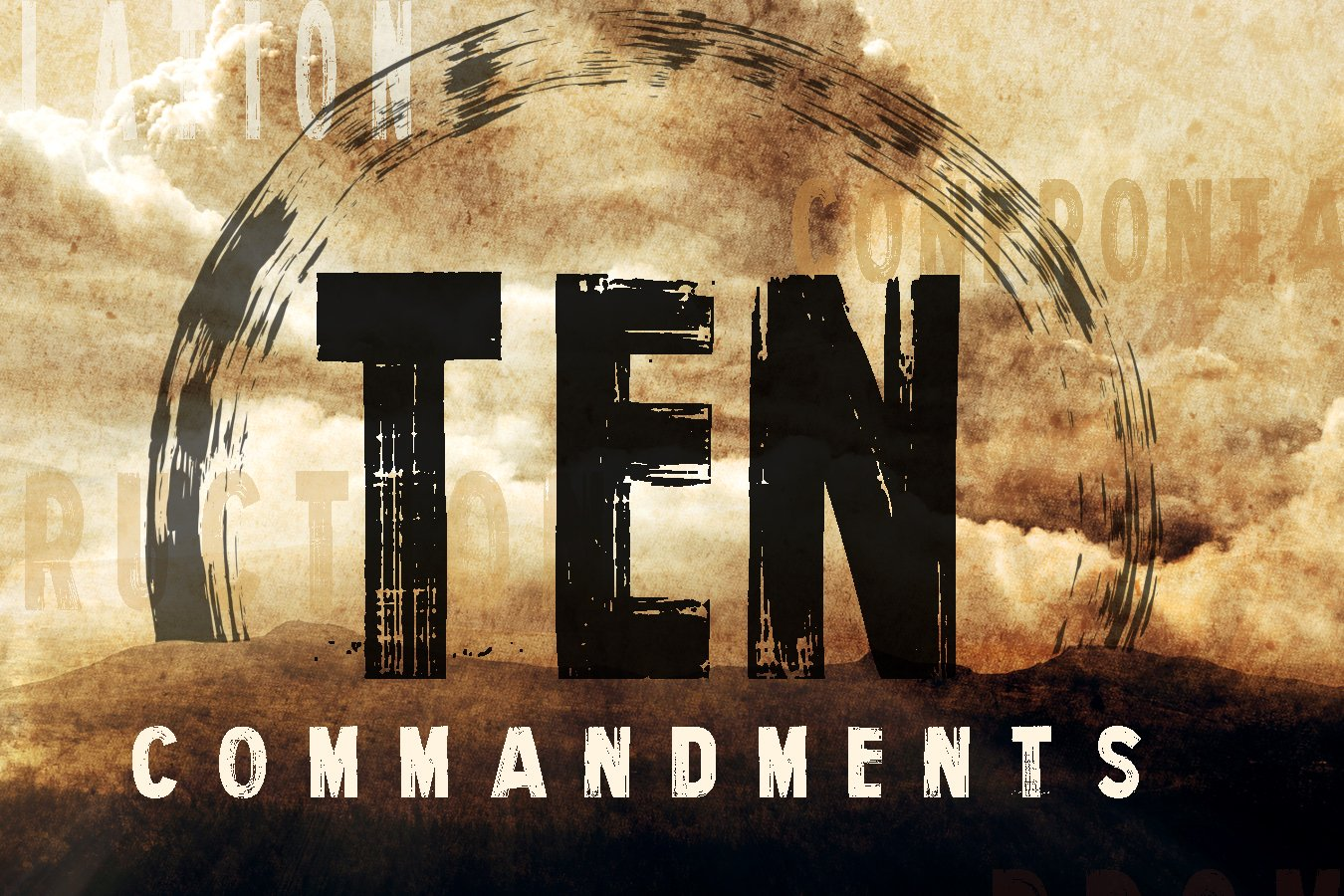 Ten Commandments – The Finger of God