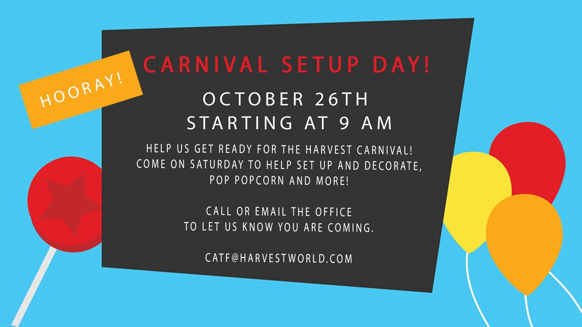 Carnival Setup Day!